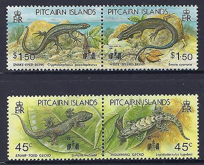 1994 Pitcairn Islands Lizards With Hong Kong '94 Overprint Fine Mint Mnh/muh