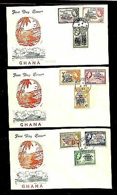 Gold Coast 1957 Independence Set On 3 Covers   Vf