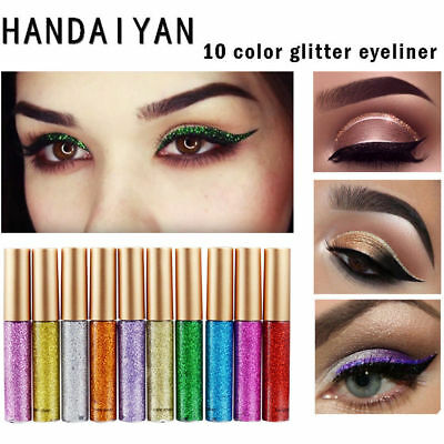 Pro Metallic Smokey Eyes Lidschatten Wasserdicht Liquid Eyeliner Make-up-Tools