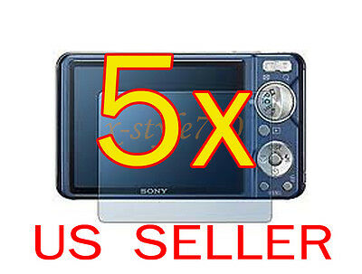 5x Sony CyberShot DSC- W290 W330 Camera Clear LCD Screen Protector Guard Film
