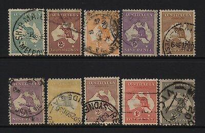 Australia Collection 10 Kangaroo Values Used