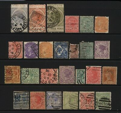 Australian States South Australia / Victoria Collection 26 Stamps Used