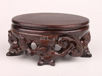 Base Stand Wood Carves Elegant Classic Vase With Snuff Bottle Displaying