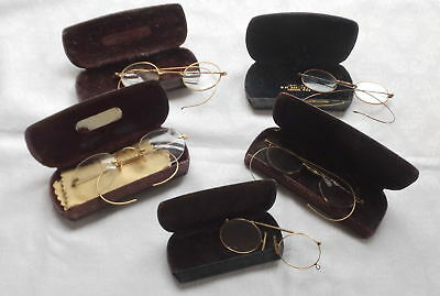5 Pairs Of Antique Spectacles And Cases