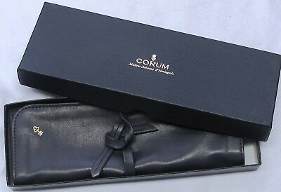Corum Wallet Roll, Grey Leather & Canvas, 3 Pockets, Very Nice Condition