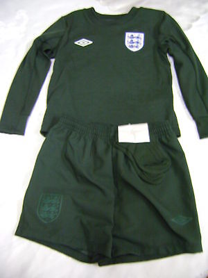 England Official Goalkeeper Kit Suit 2- 3 Yrs Old New