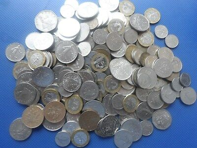 1180 Grams Of Old French Franc  Coins  Used.