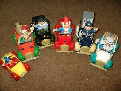"""Six Different Corgi """"toyland""""  Cars Complete With Figures Of Noddy,big Ears Etc."""