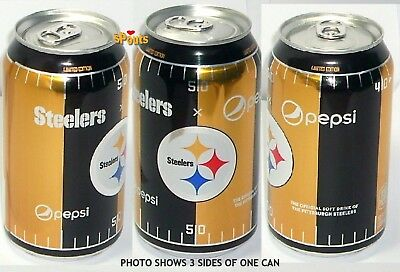 New Pepsi Cola Ltd Edition 2017 Pittsburgh Steelers Nfl Football Soda Pop Can