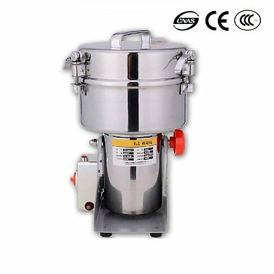 Newest Stainless Steel Family Medicial Powder Grinder Mill Herb Pulverizer 2000g