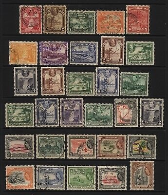 British Guiana Collection 31 KGV / KGVI / QEII Stamps Used