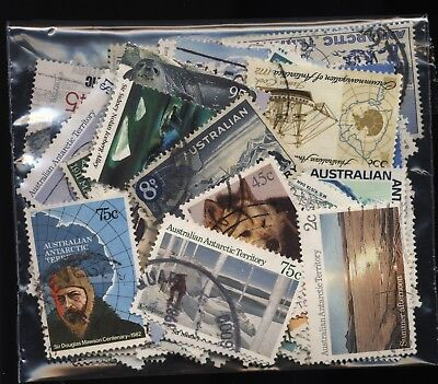 Australian Antarctic Territory Bag 80 Stamps Used