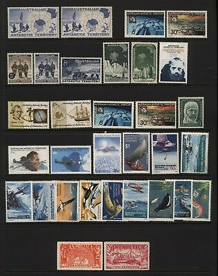 Australian Antarctic Territory Collection 32 Stamps (Inc Sets) Mounted Mint