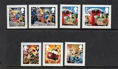 Gb 2010 Mnh Sg3128-3134 Christmas With Wallace And Gromiit Set Of 7
