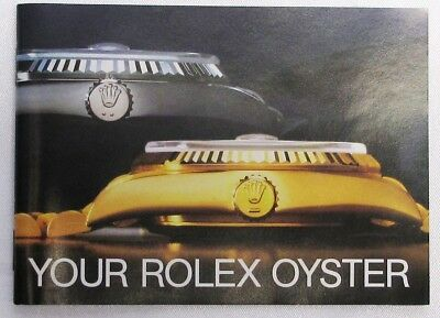 "Rolex Brochure, ""your Rolex Oyster"", English 6.1985, Vintage, Mint Condition"