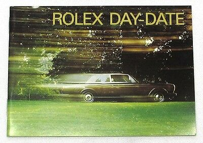 "Rolex Brochure ""rolex Day-Date"" 8.1989, English, Mint Condition"