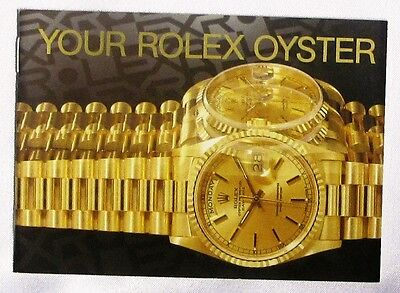 "Rolex Brochure ""your Rolex Oyster"" 1.1991, English, Mint Condition"