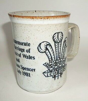 Commemorative Mug of The Prince of Wales & Lady Diana Spencer Dunoon Stoneware