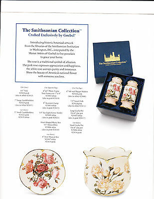 GOEBEL  The Smithsonian Collection cup and saucer  pink mib + certificate COA