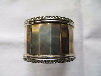 SOLID SILVER GEORGE V NAPKIN RING , SHEFFIELD 1928, COOPER BROTHERS,  21.9g