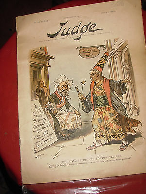 ANTIQUE 1890's BARBER SHOP  READING MATERIAL---JUDGE