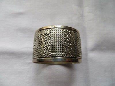 HEAVY SOLID SILVER VICTORIAN NAPKIN RING ,CHESTER 1900, HENRY GRIFFITH,  26.3g