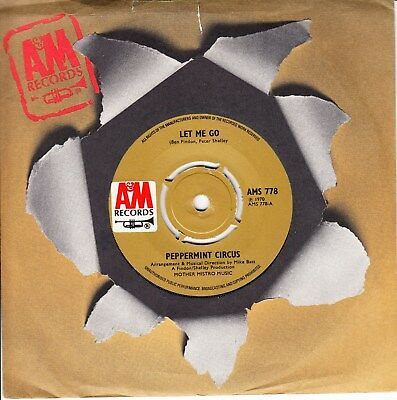 Peppermint Circus *let Me Go/ School Days* 1970 Uk A&m  Psych