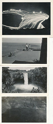 1940 US Army Schofield soldiers at Kilauea Volcano, Hilo, Hawaii 4 Photos
