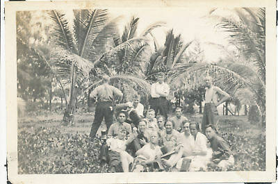 1920 soldiers & Hawaii Family Party Time 4x6 Photo