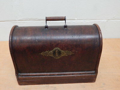 Antique Singer Sewing Machine Bentwood Case ~ 1892 ~ No Machine, Lid & Base Only