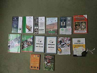 Collection of RFU programmes, ticket stubs and 2 Annuals.