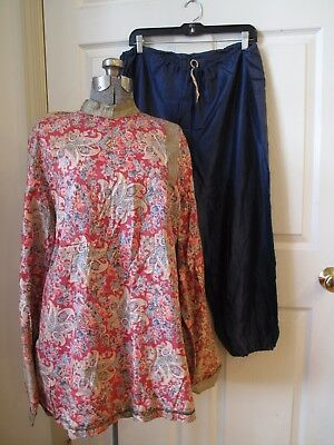 1930s Antique Vintage OLD HALLOWEEN COSTUME 2pc Asian Japanese Pants Tunic Shirt