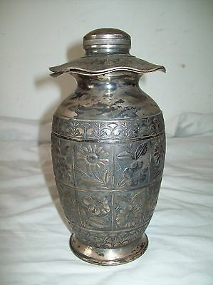 silverplate urn with cover Hartford Silverplate co stamped 1926