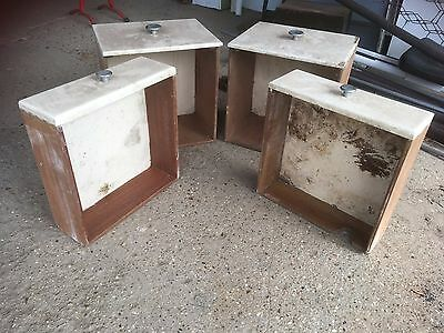 Vintage Retro 4 Old Solid Wooden Drawers Shelving Storage Boxes Display Project