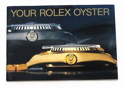 "Rolex Brochure ""your Rolex Oyster"" 8.1988, Vintage, English, Mint Condition"