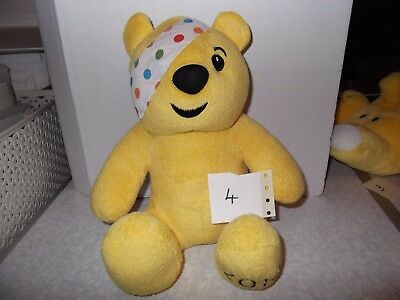"""Number 4 Pudsey Bear Children in Need Soft PlushToy 10"""" Pre owned,Good Condition"""