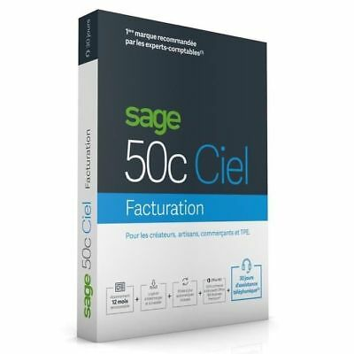 SAGE - 50c FACTURATION - 1 an d'assistance NEUF