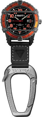 "Dakota Phase III Clip Watch Orange Measures 4 3/4"" overall. Black aluminum overs"