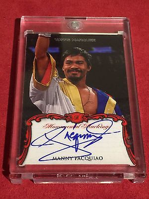 MANNY PACQUIAO 2011 TOPPS MARQUEE Monumental Markings AUTOGRAPH RARE AUTO