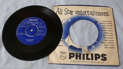"""Johnny Cash All Over Again / What Do I Care 7"""" Philips 45-PB.874 1958"""