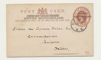 BECHUANALAND -ITALY 1900, MOCHUDI & MAFEKING CDS ON 1d CARD (SEE BELOW)