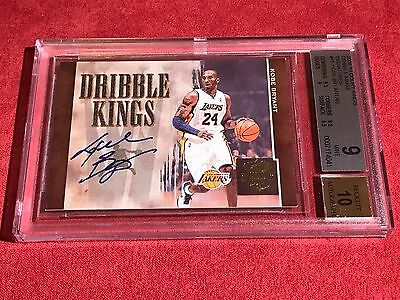 KOBE BRYANT 2009-10 COURT KINGS Dribble Kings #15 GRADED BECKETT 9  MINT AUTO 10