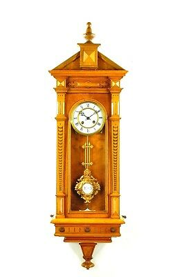 Antique German Spring Driven Wall Clock approx.1890