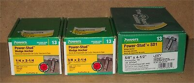 Lot of 3 NEW BOXES (75 pcs total) Hillman Power-Stud WEDGE ANCHORS for Concrete