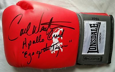 "Carl Weathers Hand Signed Boxing Glove Apollo Creed ""eye Of The Tiger"" Rocky"