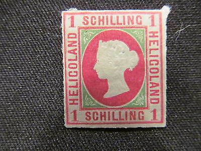 1867 Heligoland Mint hinged 1 schilling stamp, #2, Queen Victoria; Cat. $190.00
