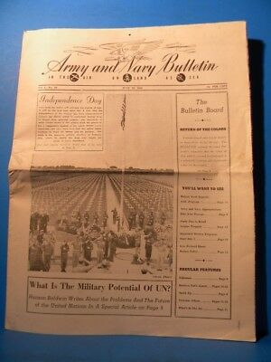 Army & Navy Bulletin 1946 June 29 1946 Vol 2 No 26