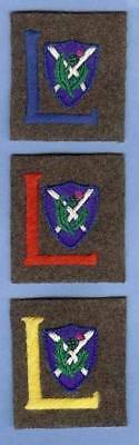 British Army WWI 52nd Lowland Division Scottish Brigades Repro Patch Sign Set