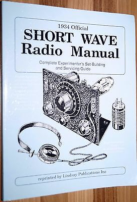 Shortwave Radio Manual Experimenters 1934 Lindsey Pub Valve Tube QRP
