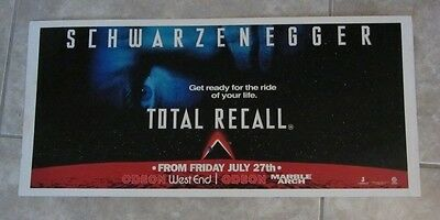Total Recall promotional display card - Arnold Schwarzenegger - 11 x 24 inches